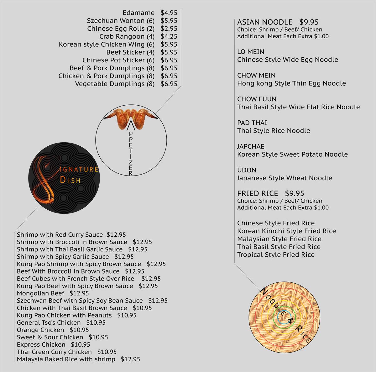 appetizer menu